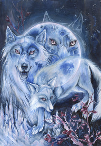 Full Wolf Moon // Original Painting