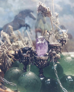 rts // chalice // silver and raw amethyst pendant