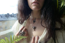 Load image into Gallery viewer, chalice // silver and raw amethyst pendant