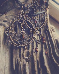 amber sun necklace // solar talisman