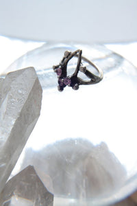 mini portal ring // 'triple crown'
