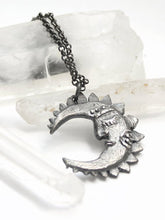 Load image into Gallery viewer, rts // crescent moon pendant // tide