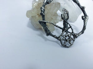 rts // faerie magic jewel // faerie medallion // silver and herkimer crystal