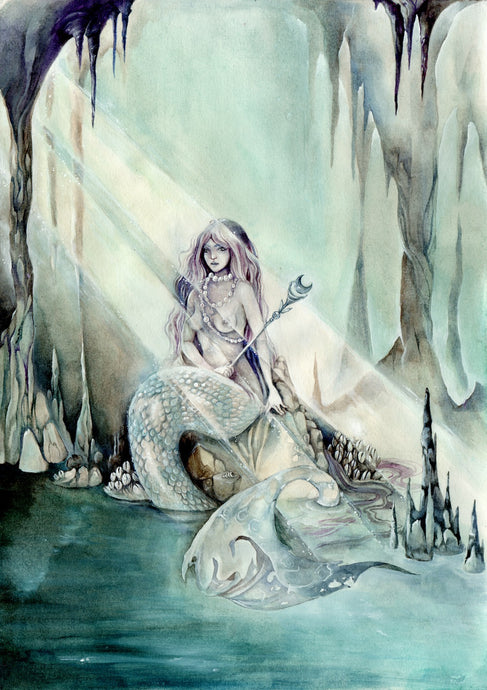 Mermaid's Cave // Original Painting