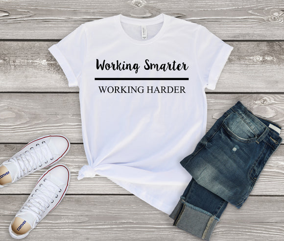 Working Smarter over Working Harder - Black (Unisex T-Shirt)