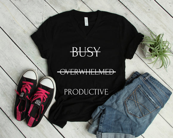Be Productive (Unisex V-Neck T-Shirt)