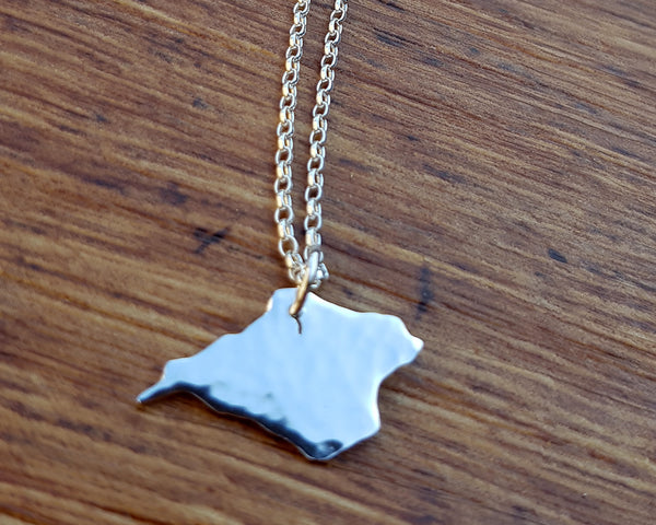 Isle of Wight Sterling Silver Charm Pendant