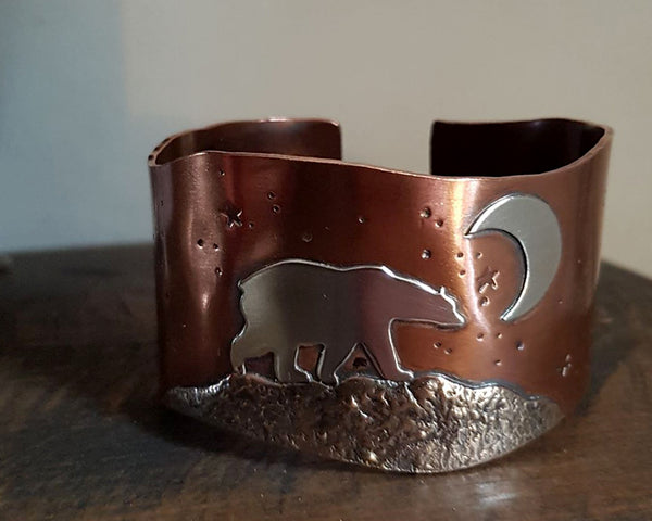 Midnight Bear Cuff