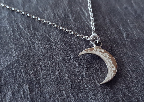 Sterling Silver Crescent Moon Pendant