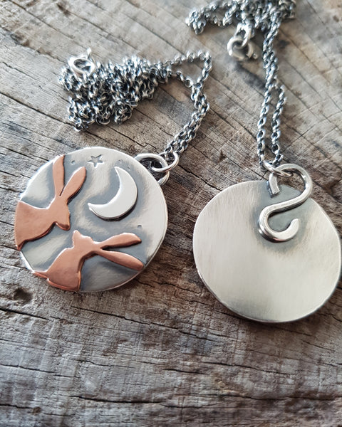 Kissing Hares Pendant