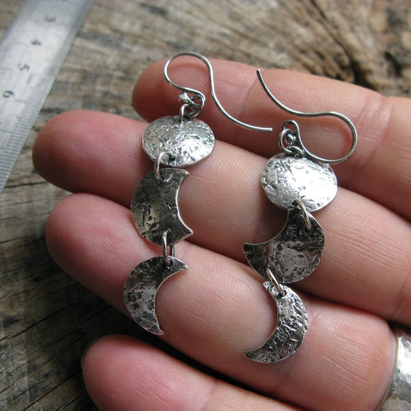 Sterling Silver Moonphase Earrings