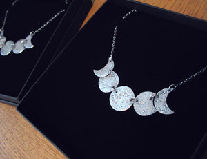 Moonphase Sterling Silver Necklace