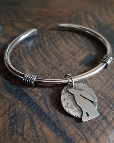 Moongazing Hare Torque 'Boudicca' Bangle