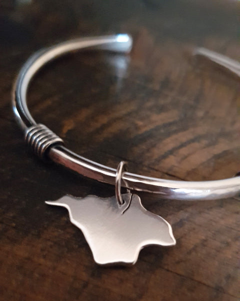 Isle of Wight Sterling Silver 'Boudicca' Torque Bangle