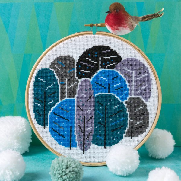 Winter Trees Cross Stitch Kit