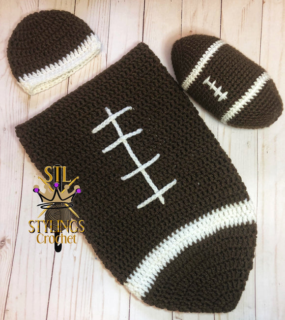 Newborn Football Cocoon Photo prop