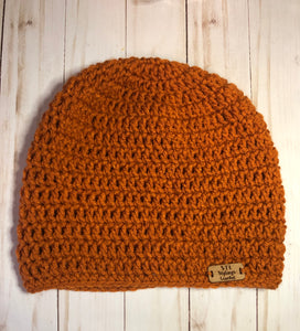 Pumpkin Orange Adult Beanie