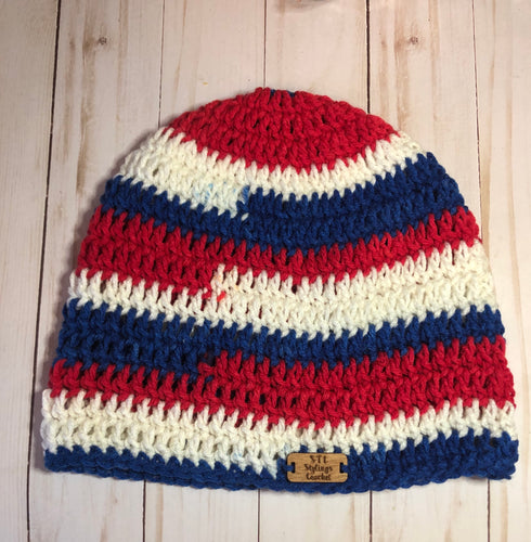 Red, White and Blue Adult Beanie