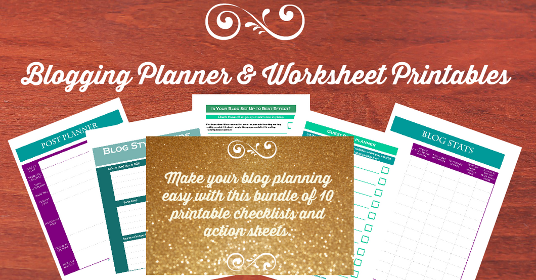 Blogging Planner & Worksheets Printables