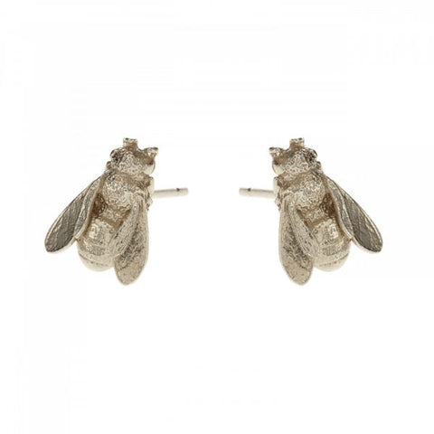 Alex Monroe Honeybee Silver Stud Earrings