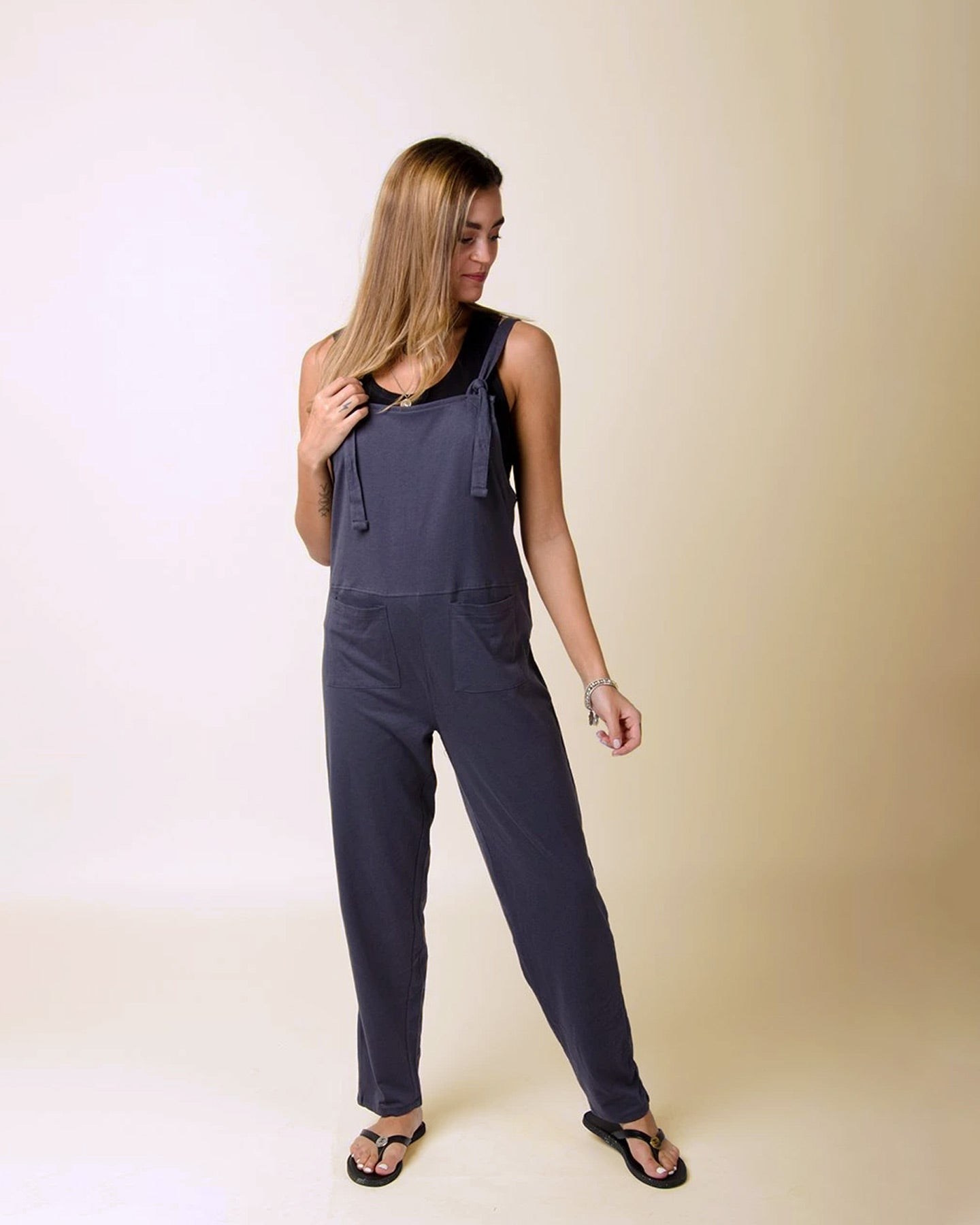 MABEL Jersey Jumpsuit in Charcoal
