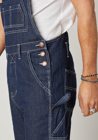 Close-up of Regular Dark Blue Dungarees