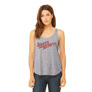 Boots and Hearts Ladies Premium Flowy Tank
