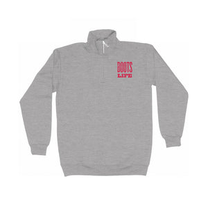 BootsLife Unisex Grey Fleece Pullover