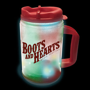 Boots and Hearts Light Up Premium Plastic Mug