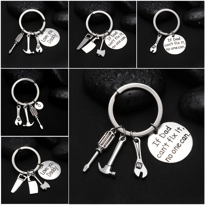 f Dad Can/'t Fix It No One Can Hand Tools Keyring Pendant Key Ring Gift Key Chain