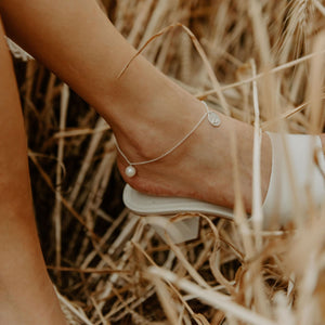 Rolo Oval Anklet in Gold