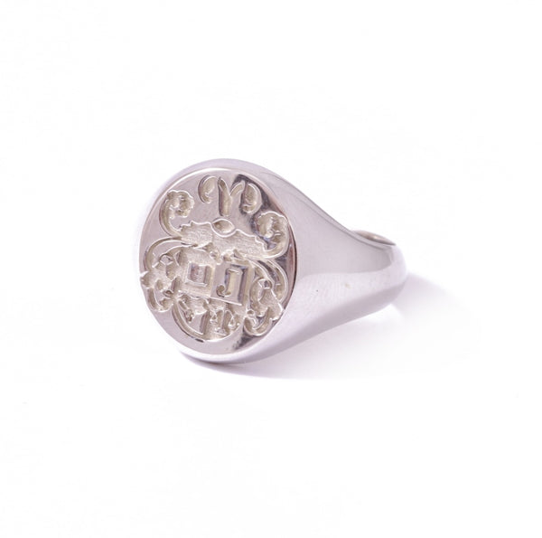 Sterling Silver Oval customisable Legacy Signet Ring