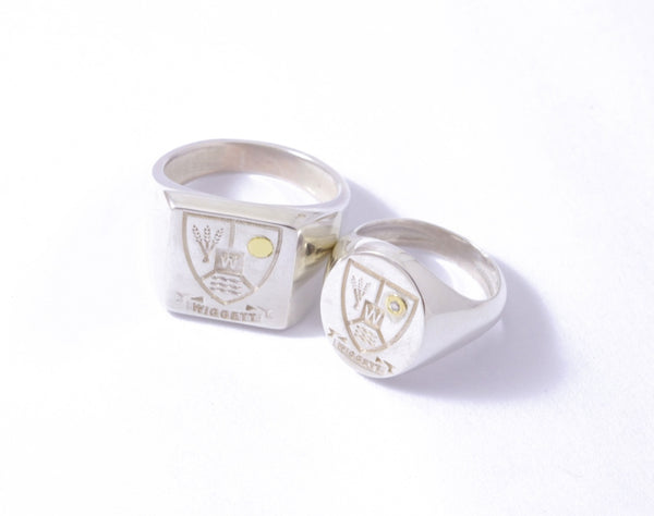 Sterling Silver Square Customisable Legacy Signet Ring
