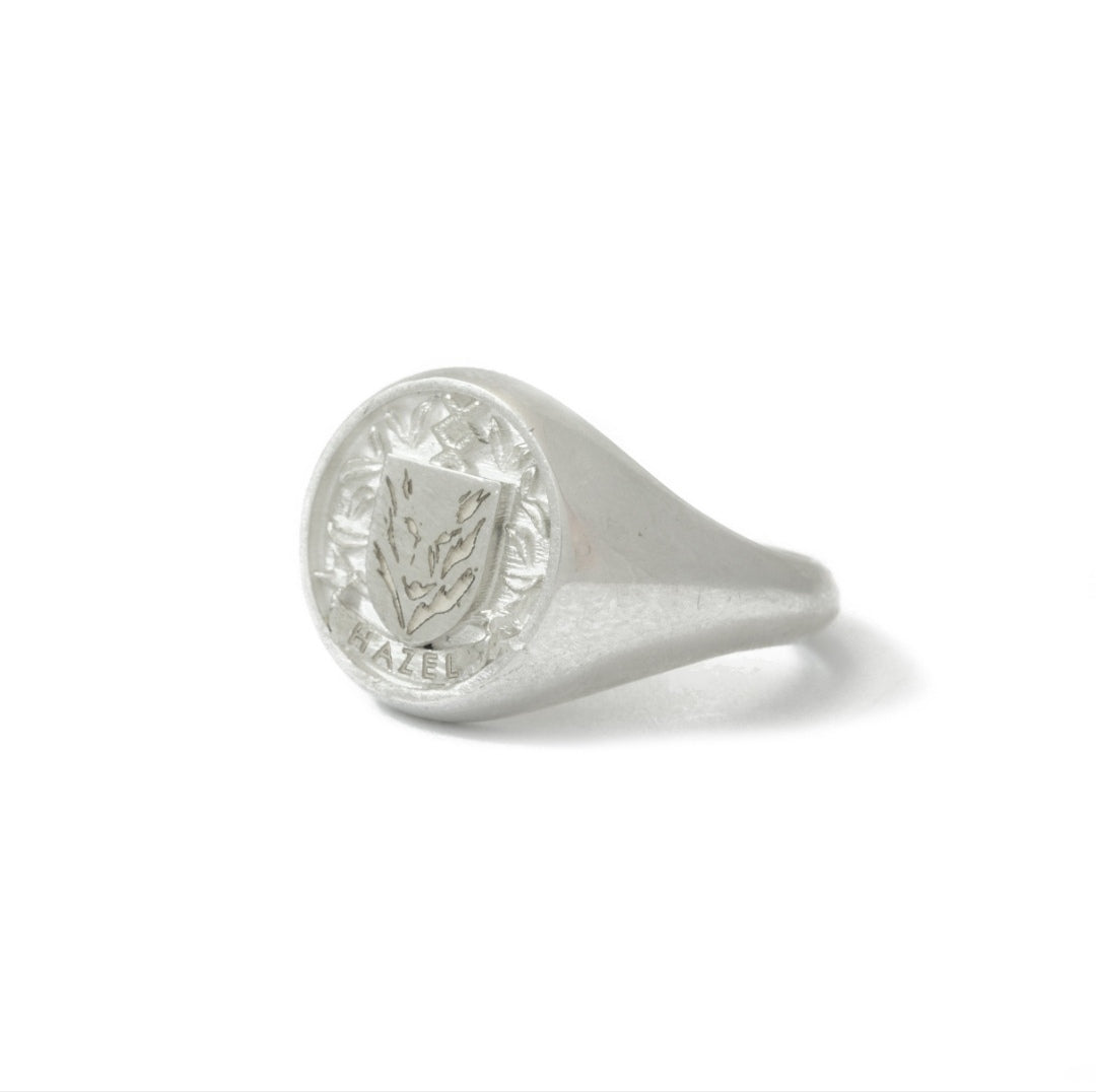 Sterling Silver Round Customisable Legacy Signet Ring