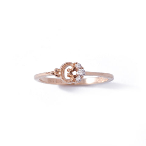 9ct Rose Gold Petite Blossom Ring