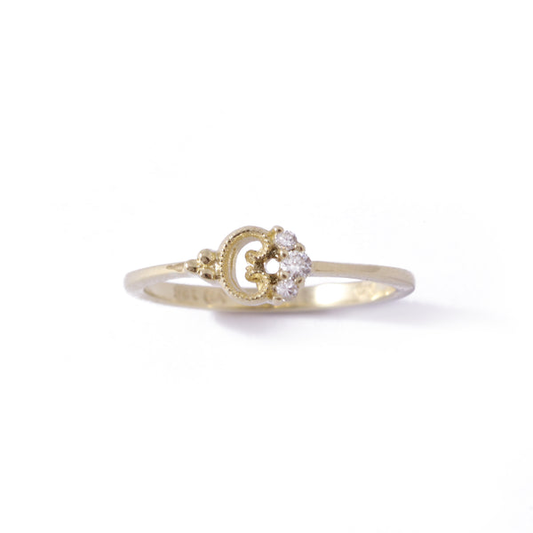9ct Yellow Gold Petite Blossom Ring