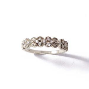 9ct White Gold Paradise Wedding Band