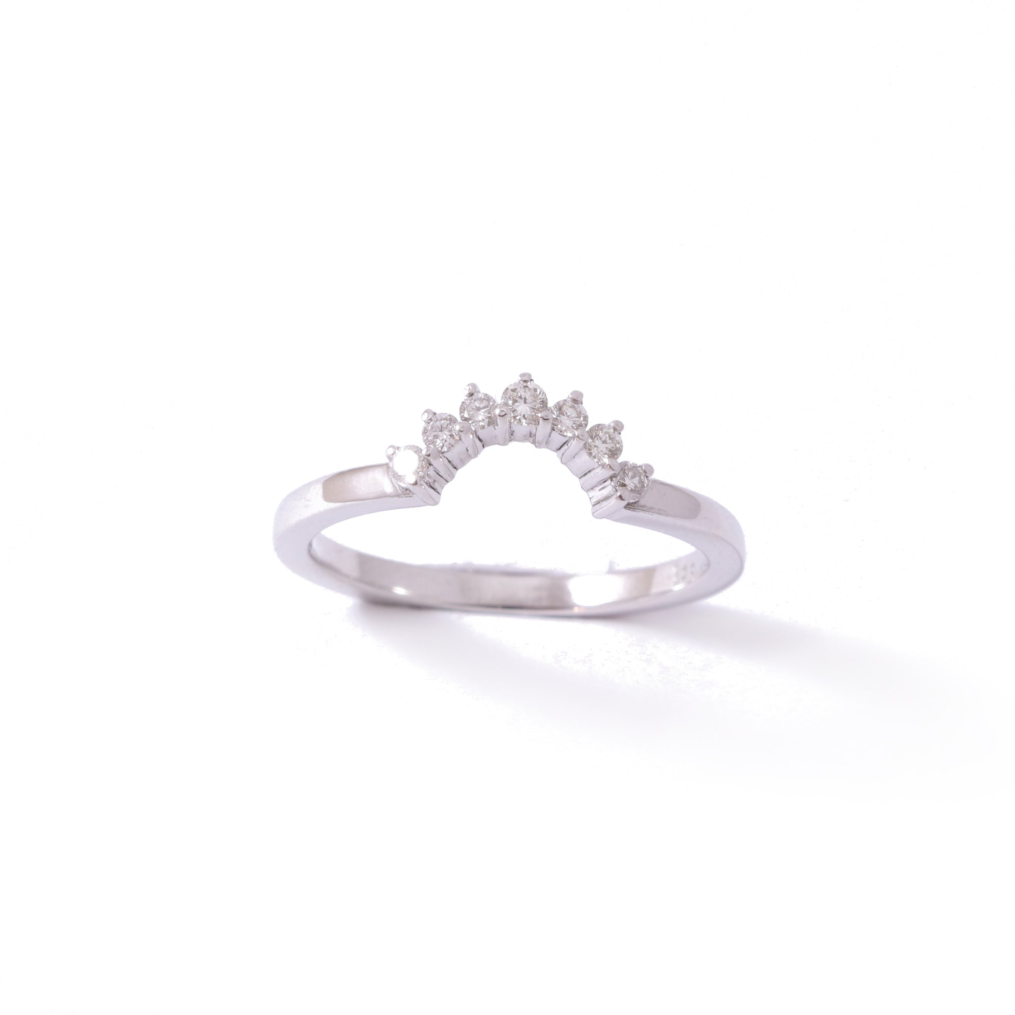 9ct White Gold Crown Wedding band