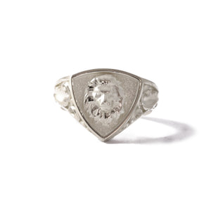 9ct White Gold Triangular Legacy Signet Ring