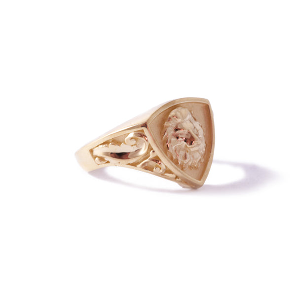 9ct Rose Gold Triangular Customisable Legacy Signet Ring