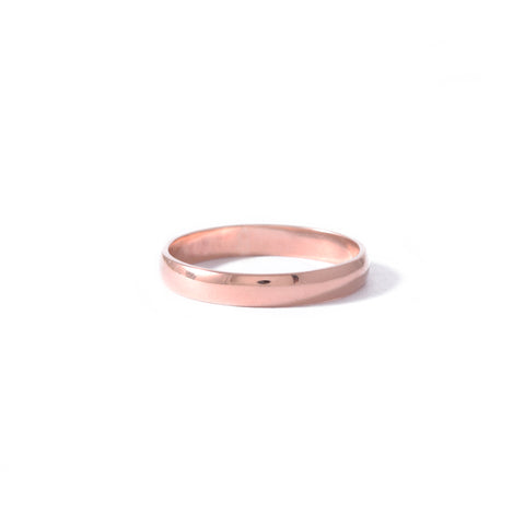 9ct Rose Gold Half Round 3mm