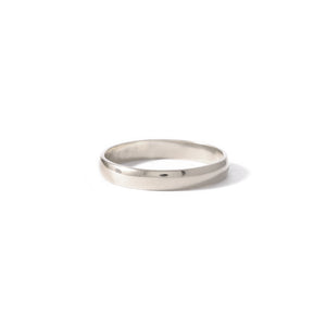 Sterling Silver Half Round Band 3mm