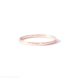 9ct Rose Gold Delicate Wedding Band