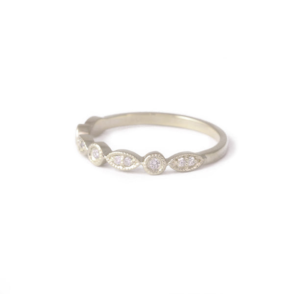 9ct White Gold Vintage Diamond Eternity Ring