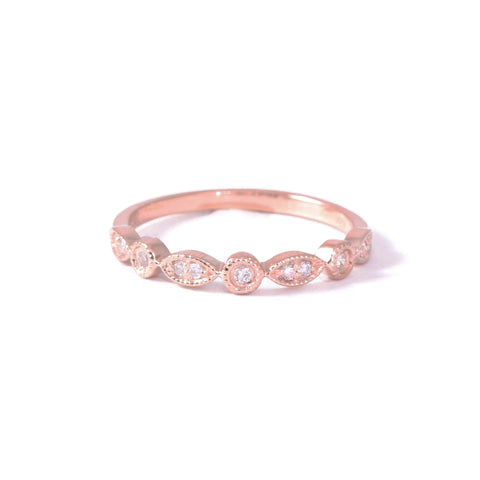 9ct Rose Gold Vintage Diamond Eternity Ring