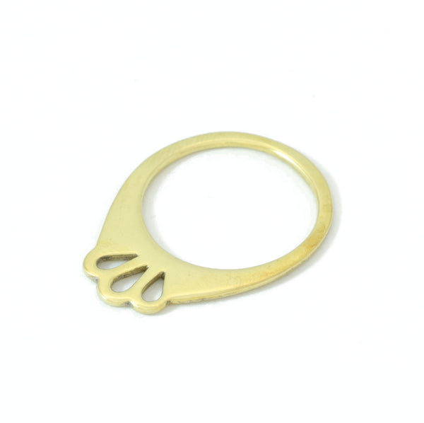 Gold orchid Ring