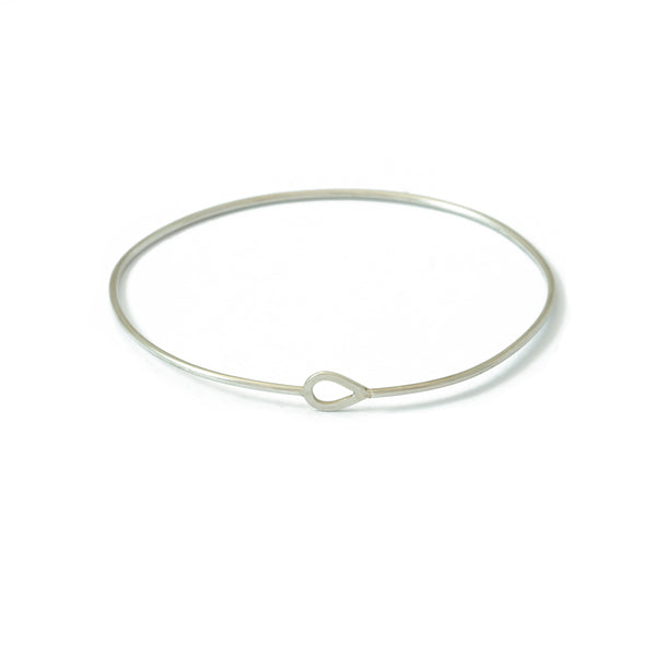 'Jardin' Silver Leaf Bangle