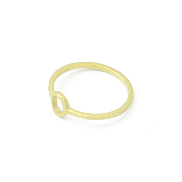 'Jardin' Gold Circle Ring
