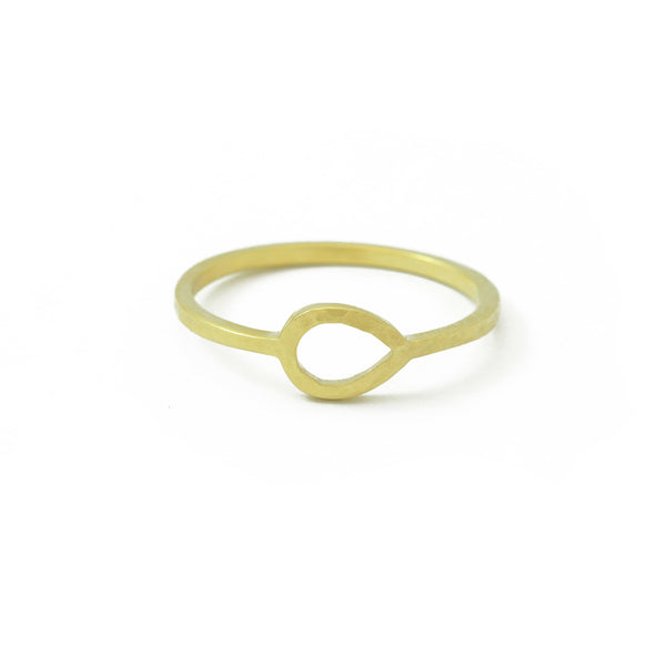 'Jardin' Gold Teardrop Ring