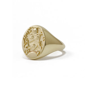 9ct Yellow Gold Oval Customisable Legacy Signet Ring